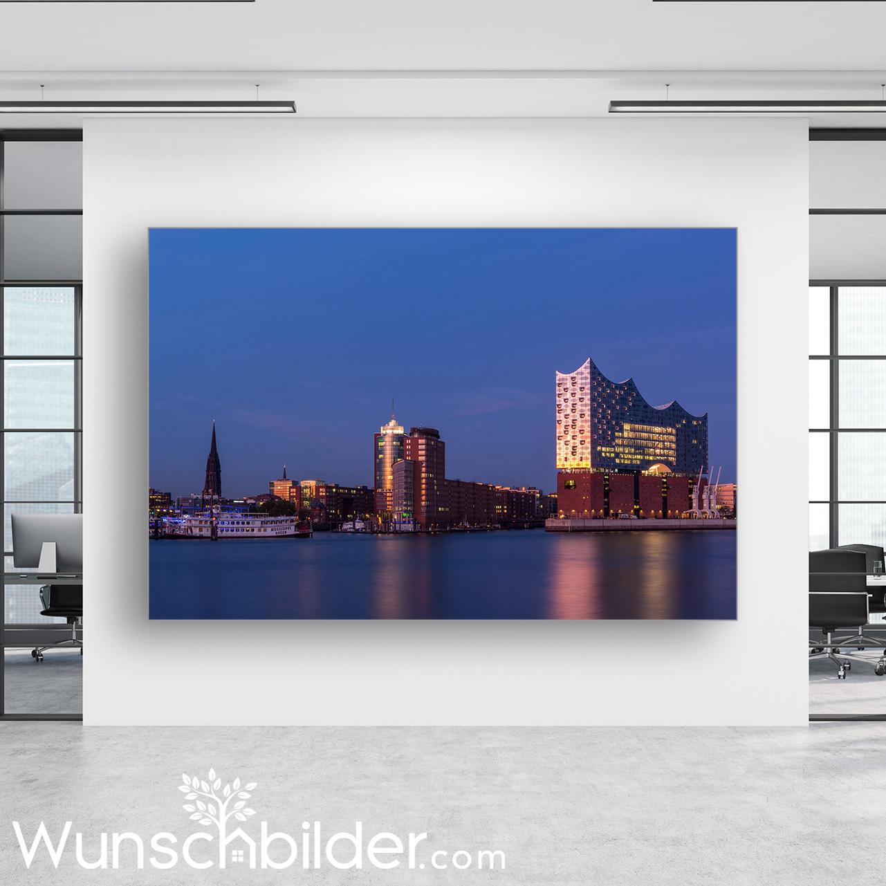 Hamburg Elbphilharmonie Hafen - BUERO Bild auf Leinwand