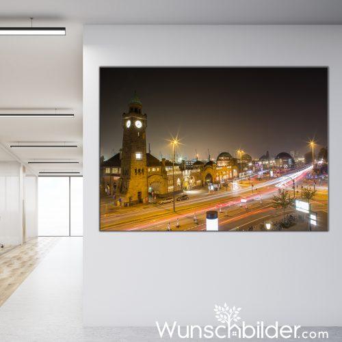 Landungsbrücken Hamburg - Leinwand Bild - Fotokunst für Büro & Zuhause
