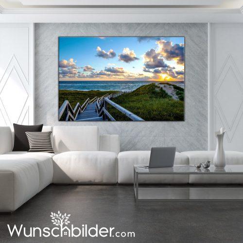Fotokunst für Zuhause - Strandübergang Strand Sylt - WUNSCHBILDER.com