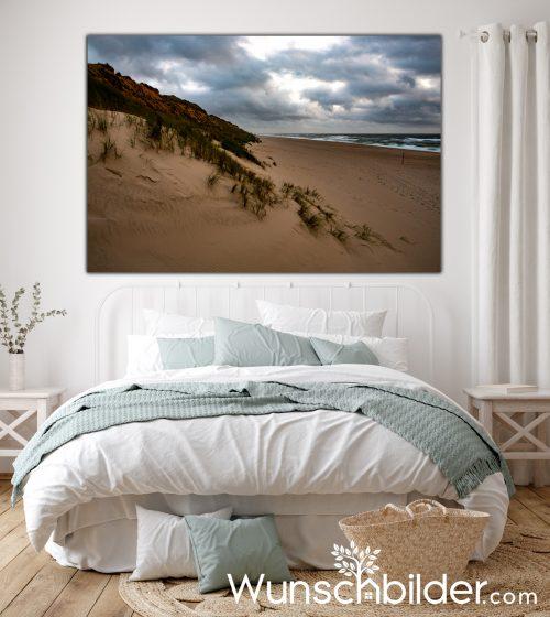 Rotes Kliff Sylt - Bild mit Fotografie auf Leinwand - Fotokunst für das Schlafzimmer