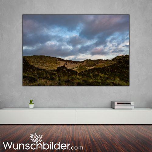 Sylter Dünenlandschaft -Dünen auf der Insel Sylt Fotokunst für das Wohnzimmer WUNSCHBILDER.com
