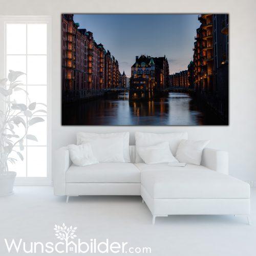 Wasserschloss Hamburg Speicherstadt - Fotokunst für ihre Wohnung