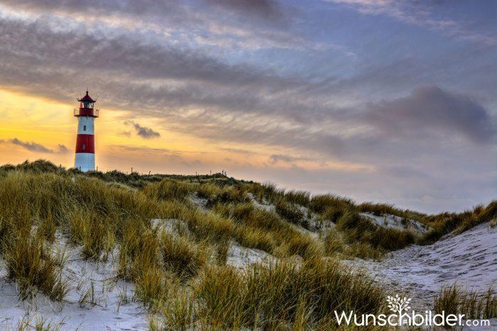 Sylt - Leuchtturm am Ellenbogen mit Dünenlandschaft - EMOZION - Fotograf Sascha Block