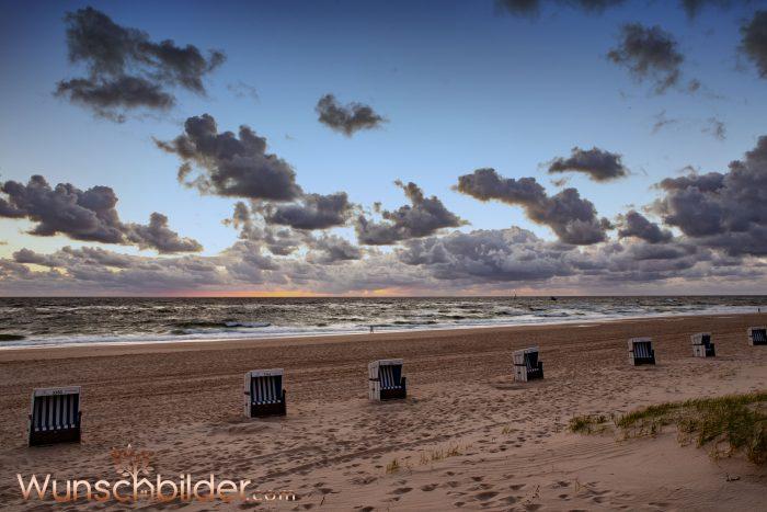 Strandkörbe am Strand Sylt - Wunschbilder.com