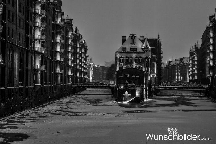 Wasserschloesschen Hamburg - Winter Traum in der Speicherstadt